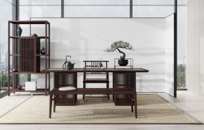 家私家具,深浅色调搭配,营造简雅休憩空间